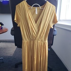 NWOT Mustard Yellow Jersey Dress